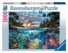 RAVENSBURGER JIGSAW PUZZLE CORAL BAY 1000 PCS DOLPHINS TROPICAL #19145
