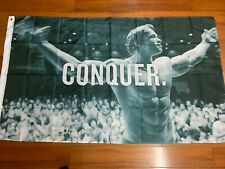 More details for schwarzenegger conquer flag morale tactical military army gym sport 5ft x 3ft