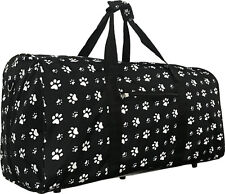 "22"" Women's PAW Print Gym Dance Cheer Travel Carry On Duffel Bag - Black"