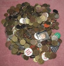 Lot of 7lb. & 10oz. Amusement, Car Wash, Arcade and Other Tokens - #1