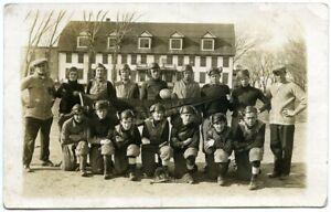 Nice 1919 Spalding, Nebraska Football Team Real Photo Postcard [RPPC]