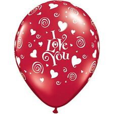 Party Supplies Wedding Birthday I Love You Swirl Hearts  Balloons Pack of 10