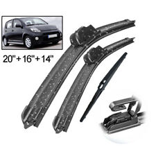 Front Rear Windshield Wiper Blades For Daihatsu Sirion MK2 2005 - 2012 2011 2010