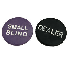 "Small Blind & Dealer Buttons Lot Bundle: Two 2"" Poker Dealer Buttons"