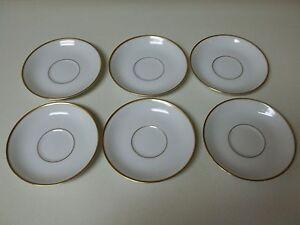 Princess House Heritage China Exclusive 6 Saucers  Gold Trim