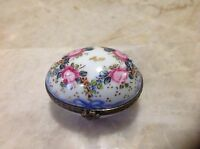Rare Limoges France Paint Main Egg box Hand Signed J D