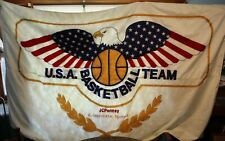 Coach Bob Knight Was Former Owner-1984 U S Basketball Olympics Flag 8 Ft X 5 Ft