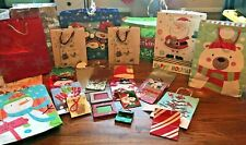 (30) CHRISTMAS HOLIDAY GIFT BAGS SNOWMAN SANTA WINE ALL SIZES EMBELLISHED