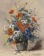Cauchois Henri Eugene Summer Flowers Canvas 16 x 20 #5647