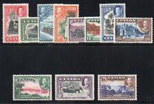 Ceylon 1935 KGV set complete superb MNH. SG 368-378. Sc 24-274.