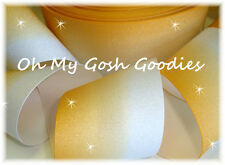 """3"""" GLITTER YELLOW GOLD OMBRE CHEER GROSGRAIN RIBBON FOOTBALL 4 TIC TOC HAIRBOW"""
