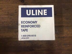 """Uline S-1947 Reinforced Tape 3"""" x 375', K3800, 8 Rolls 1 Carton, New"""