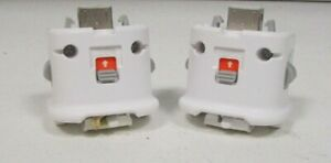 2 Official Genuine Nintendo Wii Motion Plus Adapter OEM MotionPlus RVL-026 White