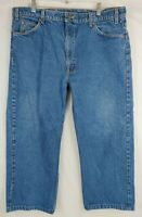 Mens Levis 505 Orange Tab Jeans 40x24 Blue Medium Wash Denim Vintage