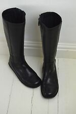 DR Martens Black Leather Knee High Zip Up Lagenlook Air Wear Boots UK 6