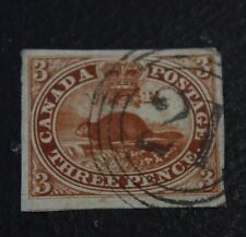 1853 CANADA Scott  #4 a 3d Used 4 ring Cancels