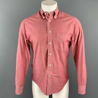 GITMAN VINTAGE Size S Red Heather Cotton Button Down Long Sleeve Shirt