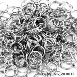 Steel Keyring Split Key Rings 25MM Nickel Hoop Ring Nickel Plated Steel Loop