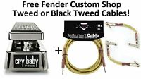 New Dunlop JP95 John Petrucci Signature Cry Baby Wah Fender Cables Crybaby
