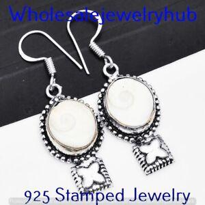 Shiva Eye Shell Earring 925 Sterling Silver Plated Earring Jewelry E-3910