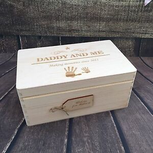 Personalised Memory Box / Father's Day Gift / Keepsake Storage / New Baby
