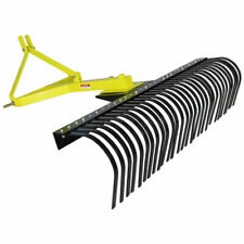 Titan Attachments 4 Ft Landscape Rake For Compact Tractors Tow Behind Garden To