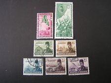 *EGYPT, SCOTT # 266+271+310-314(5) 1947-52 VARIOUS ISSUES USED