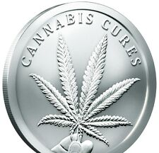 2016 ~ 1~OZ ~ .999 SILVER ROUND GEM ~ CANNABIS CURES ~ $30.88 ~ BUY IT NOW SALE