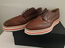 PRADA Wing-Tip Platform Espadrille Oxfords Shoes- Size Mens 11 Prada Size TAN