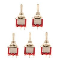 5 x On/Off Sub Miniature Small Mini Toggle Switch SPST