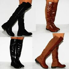 Flat (0 to 1/2 in.) Unbranded Synthetic Boots for Women