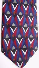 "Crossbow Men's Silk Tie 59.5"" X 3.75"" Multi-Color Geometric"