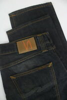 RRP €139 NUDIE STEADY EDDIE INDIGO NIGHT Men's W34/L32 Worn Look Jeans 5316_mm