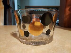 Vintage Mid Century Russel Wright Eclipse Ice Bucket Black and Gold Glass