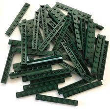 4x LEGO (pièce N° 3460) Plaque 2.5x20.3cm Vert