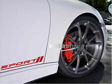 SPORT Racing Decal Sticker Performance Motorsport Turbo Car Truck SUV Emblem 2pc