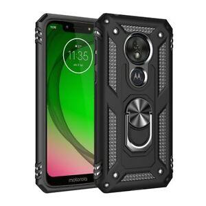 For Motorola Moto G8 G30 E7 Plus G9 Power Play Shockproof Armor Ring Holder Case