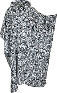 Womens Ladies Warm Fleecy Hooded Poncho Capes, Kaftan, Dressing Gown One Size