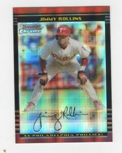 Jimmy Rollins Phillies 2002 Bowman Chrome X-Fractor L/N 004/250 card #72