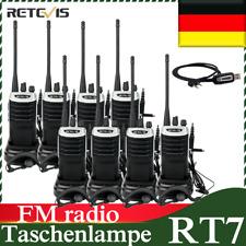 8*Retevis RT7 Funkgerät Walkie Talkie 5Watt 16Kanäle UHF Analog Headset radio