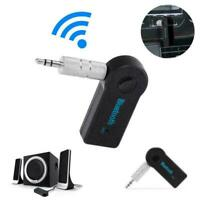 Wireless Bluetooth 3.5mm AUX Audio Stereo Music Car Adapter USB Wth Mic S2Y5