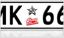Aufkleber Nummernschild Kennzeichen Sticker Russland Hammer u. Sichel Lada UdSSR