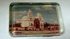 "Vintage San Xavier Mission Building Tucson Arizona Glass Paper weight 4 1/4 X 3"""