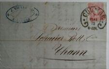 Lettre  Colmar a Thann 1875