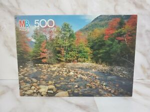 Vintage 1990 MB Sealed Saco River White Mountains, NH Puzzle Croxley 500 Piece