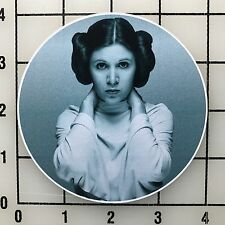 "Carrie Fisher Star Wars Princess Leia 4"" Wide Vinyl Decal Sticker - BOGO"
