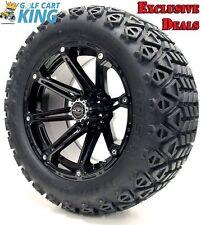 "Golf Cart Wheels and Tires Combo - 14"" Madjax Element Black - Set of 4"