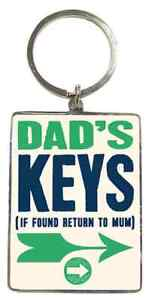 Dad's Keys KeyRing. Gift For Dad. Fathers Day, Christmas, Birthday