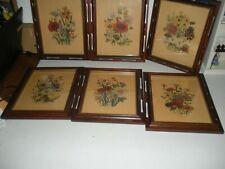 Vintage Framed  Loudan Floral Print by Henry B. Sandler Made In The U.S.A. Nice