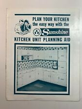 Vintage Catalogue's - Sunshine Kitchen Unit Planning Aid 1964